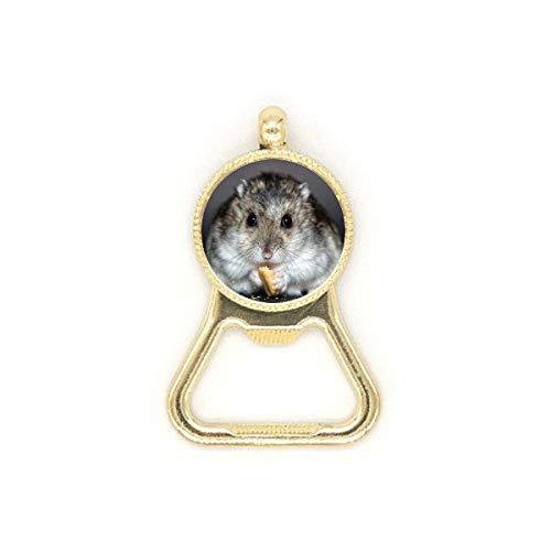 Llavero de acero inoxidable con diseño de rata para animales de hámster