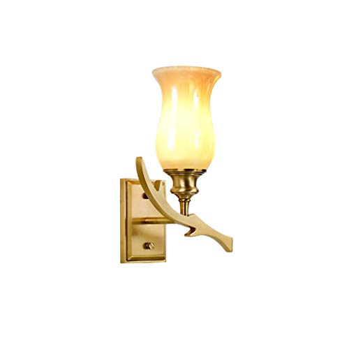 Moderne Et Simple Cuivre Country Garden Applique Lampe De Chevet Applique Murale Salon Miroir Avant Lampe E14