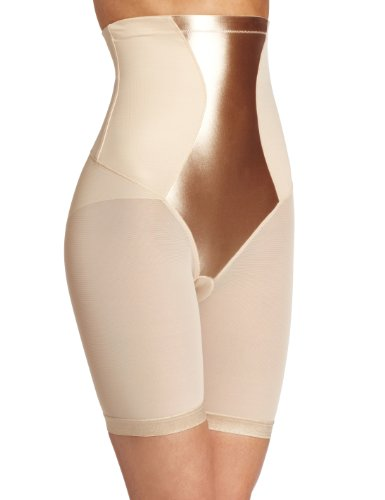 Maidenform Flexees Women's Shapewear Hi-Waist Thigh Slimmer, Latte Lift, Large