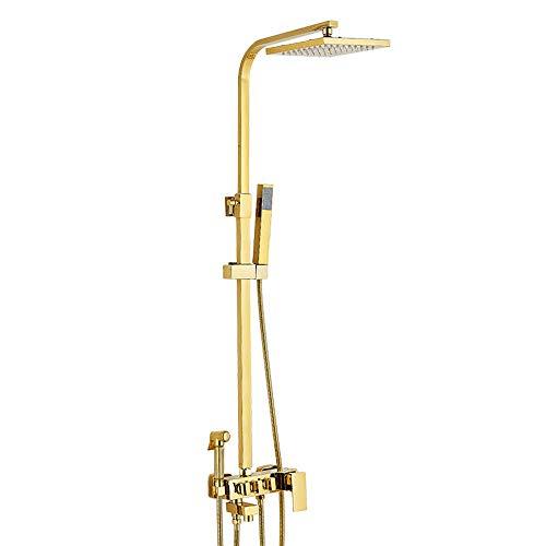 Dmqpp Dusche-Kopf-Hahn-Satz, Multi-Funktions-Pressurized-Spritzpistole, mit Regendusche Kopf und Handbrause, for die Taufe, WC, Bodenreinigung