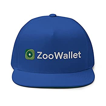 VANN S PRODUCTS LLC ZooWallet Hat ZooCoin Zoo FTM Crypto Embroidered Snapback Flat Bill Cap Royal Blue