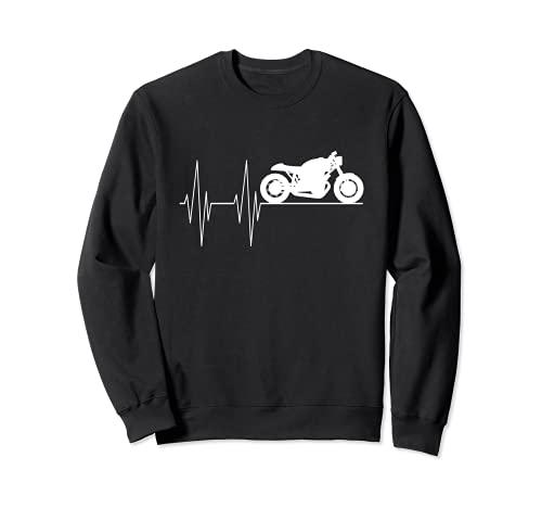 Motocicleta latido del corazón hombres y caballeros tuning Sudadera