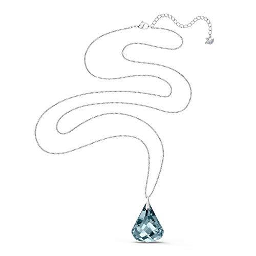 Swarovski Collana Spirit, Azzurro, Placcato Rodio