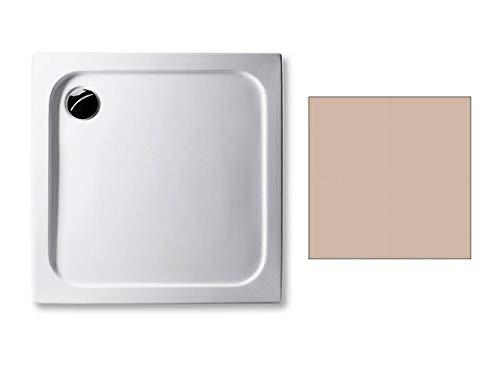 Acryl Duschwanne 80 x 80 cm Farbe: BAHAMABEIGE superflach 2,5 cm rechteckig Dusche/Duschtasse/Brausewanne