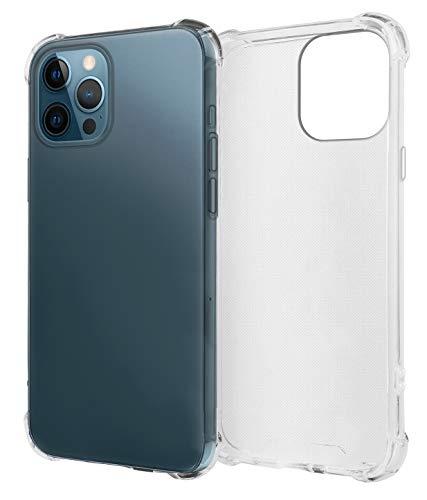 MyGadget Funda Slim para Apple iPhone 12 Pro MAX en Silicona Protector de Bordes - Carcasa Ultra Delgada con Esquinas Reforzadas Cómoda y Ligera - Claro