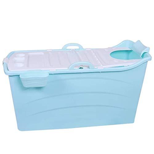yunyu Bañeras Independientes Bañera Plegable para Adultos, Bañera de hidromasaje portátil para baño, Bañera para niños, Material de PVC para la Salud (Tamaño: con Tapa)