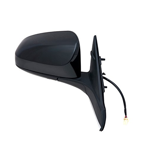 Fit System Passenger Side Mirror for Toyota Camry, Camry Hybrid, Textured Black w/PTM Cover, Foldaway, Passenger Side, Heated Power