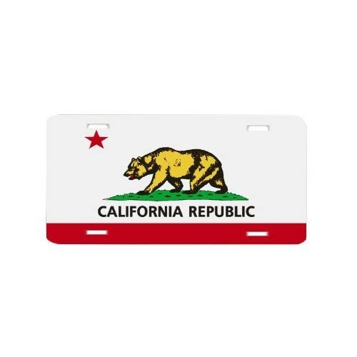 California State Flag Vanity Auto License Plate Bling Sity
