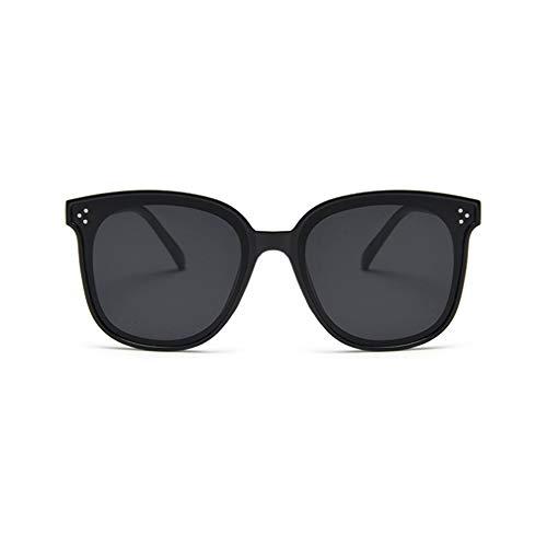 Gafas de Sol polarizadas de Gran tamaño clásicas para Mujer Shades Gafas con protección UV 100% (Negro-Gris)