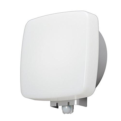 アイリスオーヤマ LEDポーチ灯 人感センサー付 角型 電球色 500lm IRBR5L-SQPLS-MSBS