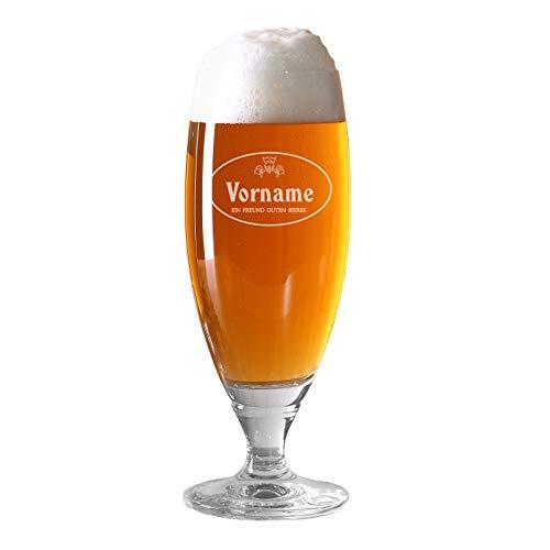 Herz & Heim® Pilstulpe (Bohemia) - Echter Geniesser - mit Gratis Gravur des Namens Ein Freund guten Bieres