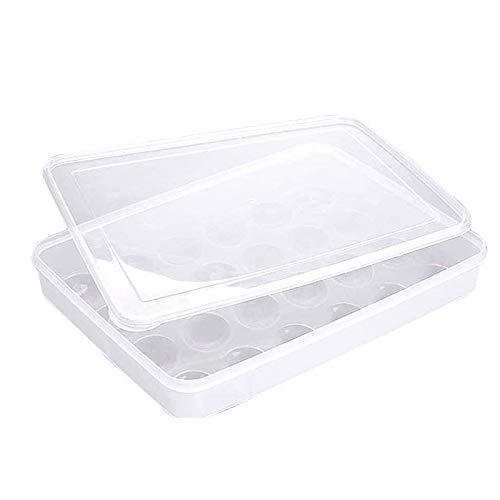 Srup 24 äggförvaringslåda, transparent ägglåda 24, 24 äggförvaringslåda, kylskåp, frysskåp, rätter, kylskåp, köksskåp, camping och picknick