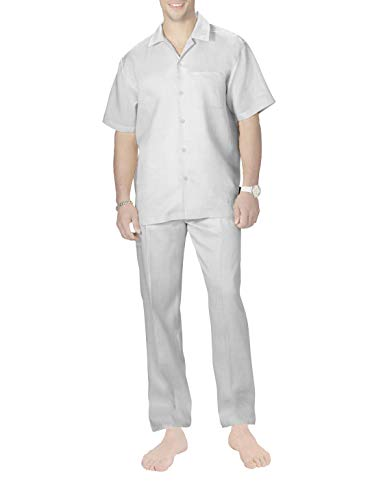 Herren Schlafanzug Zweiteiliger Pyjama Herren Kurzarm Shirt & Schlafanzughose