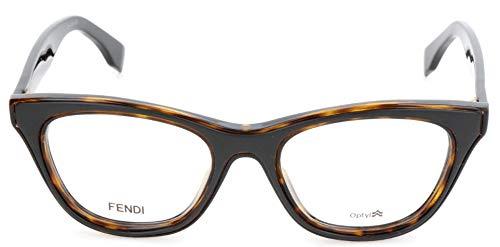 Fendi Brillengestelle FF 0197 Be You Montature, Nero (Schwarz), 49.0 Donna