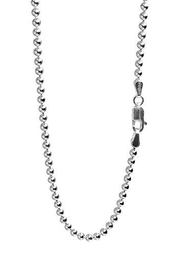 新宿銀の蔵 ボールチェーン 長さ40~80cm (40cm) 幅2.5mm シルバー 925 ネックレス チェーン ネックレスチェーン メンズ sv925