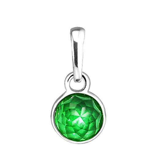 Diy Fits Pandora Bracelet 925 Sterling Silver Bead May Droplet Green Crystal Dangle Charm Beads Jewelry Making