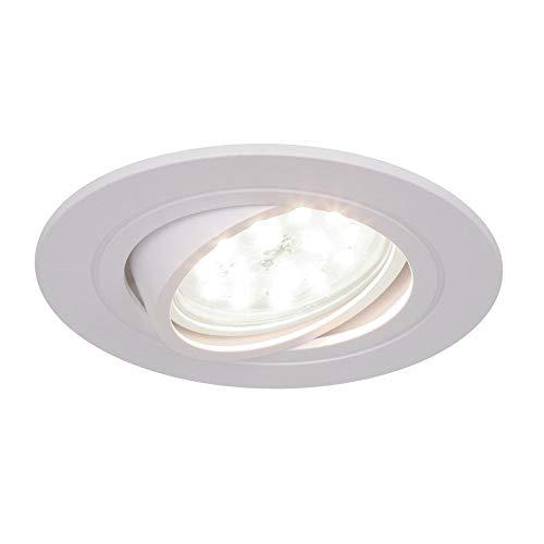 Moderne ronde Designer encastré GU10 inclinable DEL Ceiling Downlight spots