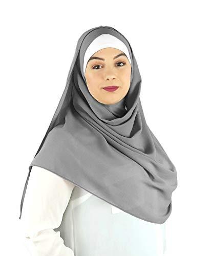 SAFIYA - Hijab Kopftuch zum schnellen überziehen für Frauen I Islamische fertig gebunden...