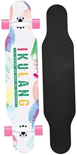 Pro Skateboard Cruiser Penny Brett Freestyle Longboard Complete Skateboard 42 Inches Tricks Skateboarddecks Brush Street Cruiser for Jugendliche Anfänger Mädchen Jungen Kinder Teens Erwachsene xuwuhz