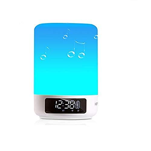 Multicolor Lampe de Chevet Tactile Portable Sans Fil Bluetooth...