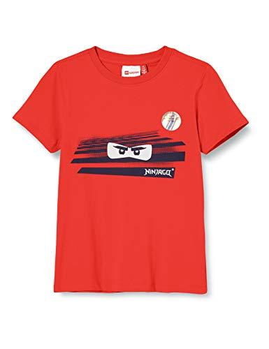 Lego Wear Jungen Lwtobias Ninjago Sun Activated T-Shirt, Rot (Red 344), (Herstellergröße:122)