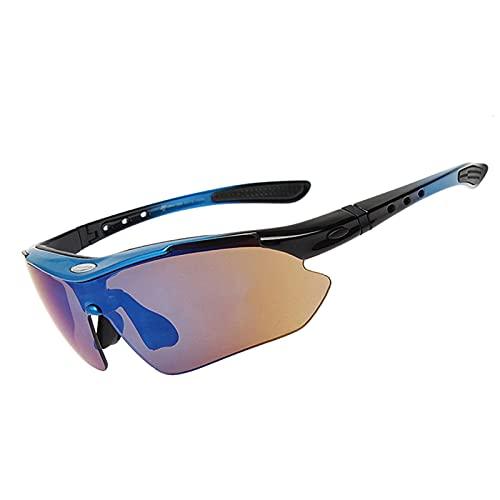 KBSN Gafas de Sol Deportivas Polarizadas para Hombre y Mujer, Proteccion UV400 & TR90 Súper Ligero Marco Gafas para Ciclismo Pesca Golf Running Conducción Esquí Senderismo