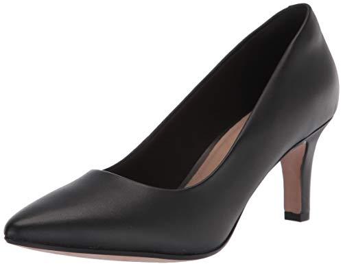 Clarks Damen Illeana Tulip Uniform-Schuh Pumps, Black Leather, 40 EU