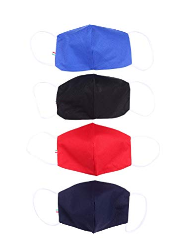 Bogart Mascherine Cotone Bambini Lavabili con tasca filtro Tnt (4 PZ) Var11, Taglia unica