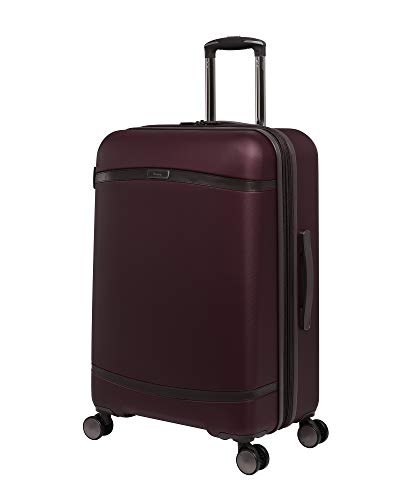it luggage Quaint Hardside Expandable Spinner, Wine with Mulch Trim, Checked-Medium 28-Inch
