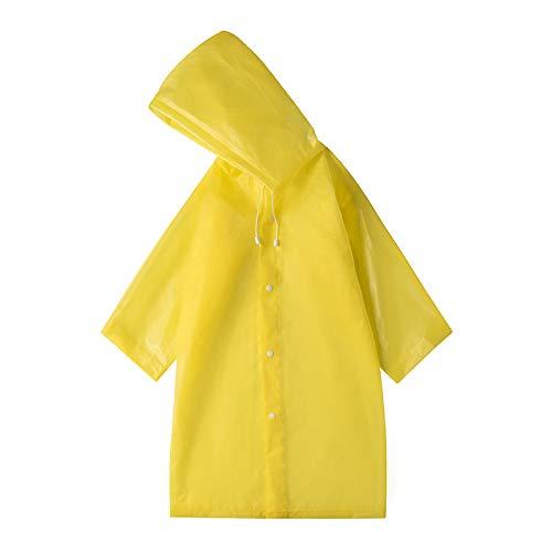 Unisex Adult Translucent Hooded One-Piece Regenjas, Portable Herbruikbare Verdikte Poncho (One Size 145 * 68),H,145 * 68