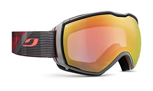 Julbo Aerospace skibril met reactief display, fotochromatisch voor heren, rood/grijs, XL