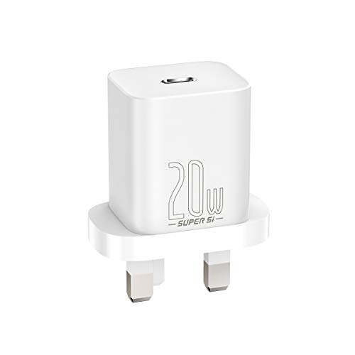 Baseus USB C Charger, 20W PD Fast Charger, Super Si Mini Power Delivery 3.0 iphone Charger Plug for iPhone 12/12 Mini/12 Pro/12 Pro Max/11, Galaxy, Pixel 4/3, iPad Pro, iPad Air, AirPods Pro and More