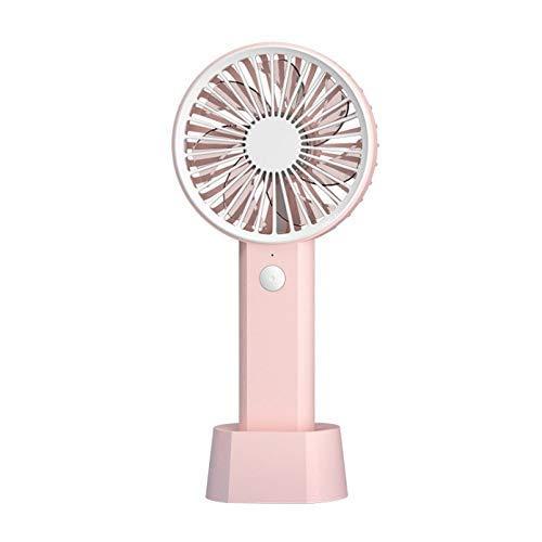 JINKEBIN Fan. Held USB Mano Ventilatore Portatile scrivania Ventilatore Ventilatore 3 Costi Regolare con Batteria Ricaricabile Compatible with Office Esterni Casa