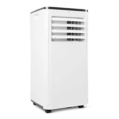 MEDION mobile Klimaanlage mit Abluftschlauch (leise, 3in1, Klimagerät, Schlafmodus Entfeuchten Lüftungsmodus, Staubfilter, geeignet für bis zu 18qm, 9000BTU, 24 Std Timer Funktion, MD18858)