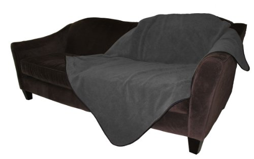 Mambe 100% Waterproof Pet Blanket (Medium 48'x 58', Charcoal)