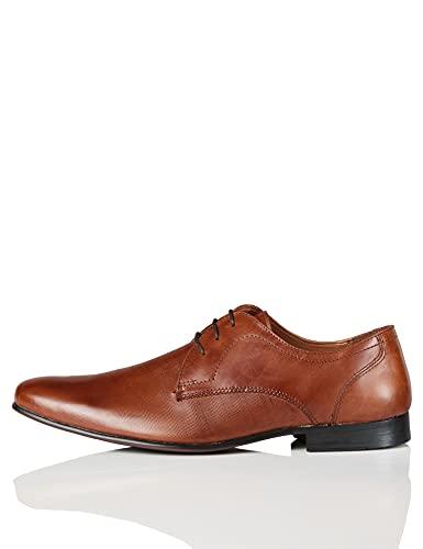find. Zapato de Cordones con Textura en Piel para Hombre, Marrón (Tan), 40 EU