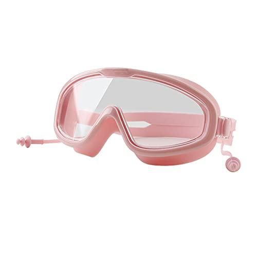 KAKAF Gafas de buceo, gafas de buceo, gafas de buceo, antiniebla, protección UV, sin fugas, con 2 tapones para los oídos y correa de silicona ajustable, para adultos y niños