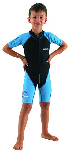 Seac Dolphin, Shorty Wetsuit for Kids in a 1,5mm Neoprene and Lycra for Swimming, Snorkelling and Playing in The Water