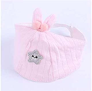 Baby Decoration Hat Baby Star Rabbit Ear Breathable Cotton Hat Newborn Hat Infant Hedging Cap Empty Top Hat for 0-6 Months(Yellow) Cute Cap (Color : Pink, Size : Head Circumference)