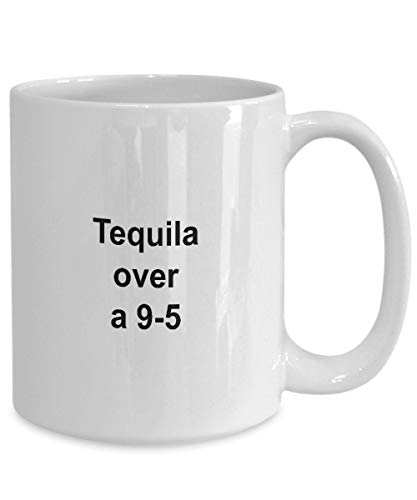 DKISEE Tequila White Coffee Mug Gift Idea for Tequila Drinkers Funny Novelty White Coffee Mok Halloween Christmas Thanksgiving Gifts 11oz wit