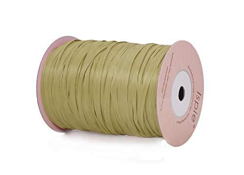 "Ispie Rayon Raffia Ribbon Crochet Yarn 1/4"" 100-Yard Green Tea"