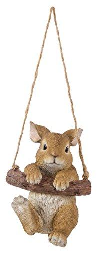 Vivid Arts RP-RABB-F Schaukeltier Freunde Kaninchen Haus oder Garten Dekoration