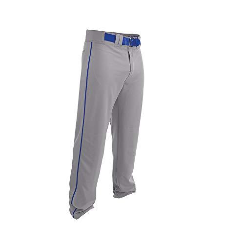 Easton Rival 2 Baseballhose | Erwachsene | Medium | Grau Royal | 2020 | Doppelt verstärkte Knie, elastischer Bund, Gürtelschlaufen