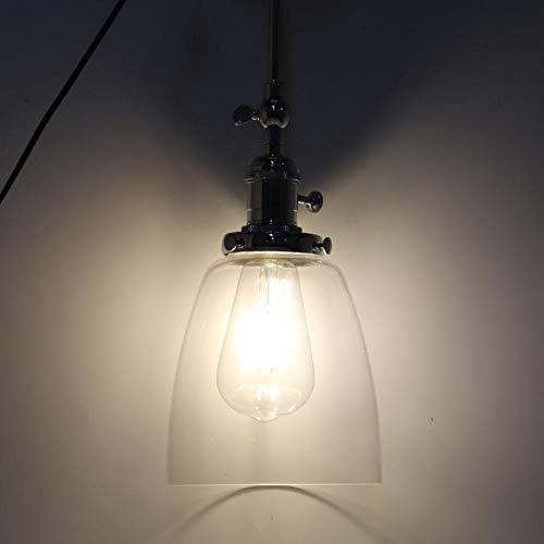 GOTOTOP E27 LED wandlamp vintage unieke glazen schaal keuken slaapkamer woonkamer decoratie lamp