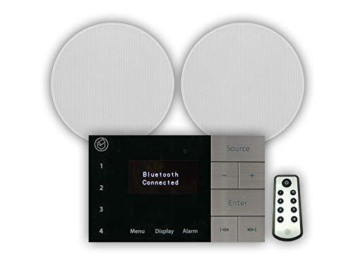 "Systemline E100 Bluetooth DAB & FM In Wall Kitchen or Bathroom Radio System inc. 2 x 6.5"" Speakers + Remote Control, [Importado de UK]"