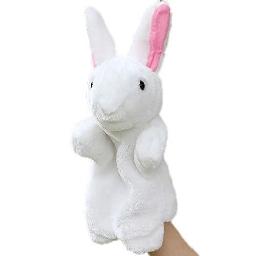 Marioneta de mano – Conejo de peluche con forma de conejo – Bonita Marioneta a mano – Juguete de animal