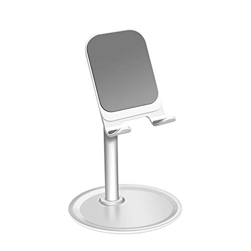 Valentinieya Adjustable Cell Phone Stand, Cell Phone Stand Adjustable Angle Anti-slip Design Compatible with Iphone Samsung Google Pixel Android Phones Desk Phone Holder (Color : White)