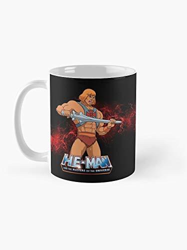 Taza de café artístico con texto en inglés «He Man - Masters of the Universo» de 325 ml