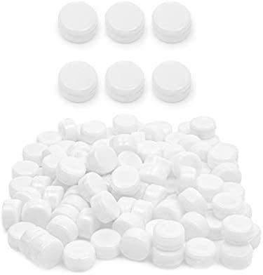 White Round Rattle Noisemaker for Toys 0 83 Inches 100 Pack product image