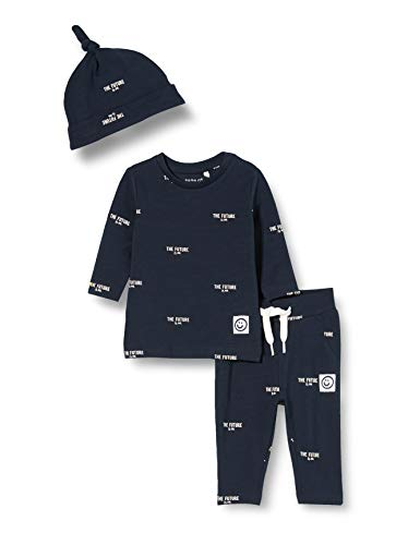 NAME IT Baby-Jungen NBMBIMAGIC LS TOP SET Kleinkind-Ausstattung, Dark Sapphire, 62